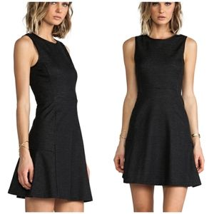 Theory Nikay fit and flare dress, charcoal size 0